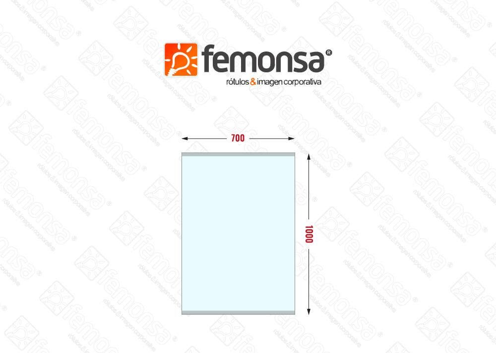 Mampara Protectora Colgante Banner 1mm 70x100 Femonsa.Shop