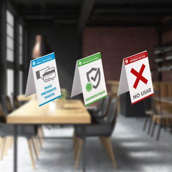 Cartel informativo sobremesa PVC 100x140