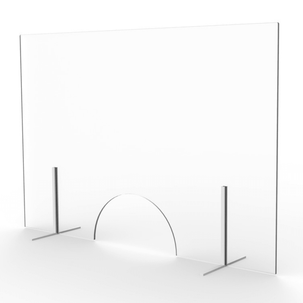 mampara vidrio con ventanilla Femonsa.Shop