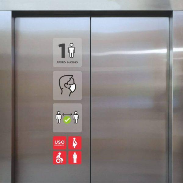 Vinilo impreso info ascensor 200x850 Femonsa.Shop