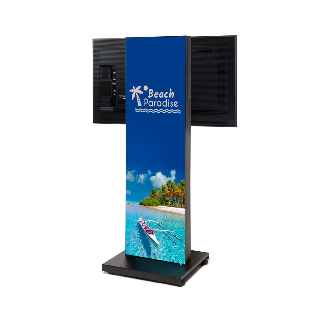 Totem Digital Textil Personalizable a dos caras - Femonsa Signs&Solutions