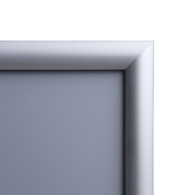 Marcos para poster con perfil de aluminio plata de 25 mm.