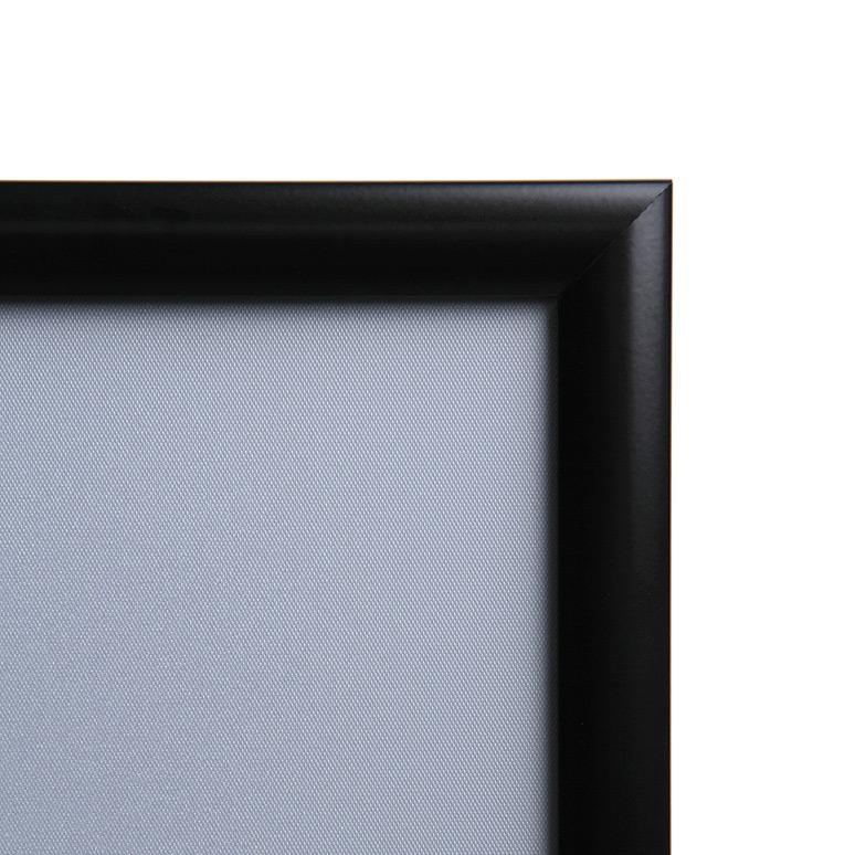 Marcos para poster con perfil de aluminio negro de 25 mm.
