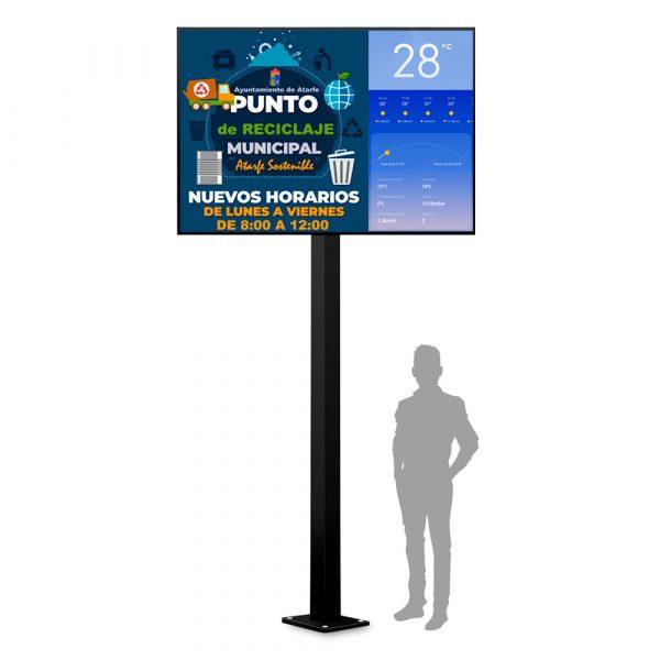 Monoposte Informativo 2 x 1,5 m. CIty Mini de Femonsa Signs & Solutions