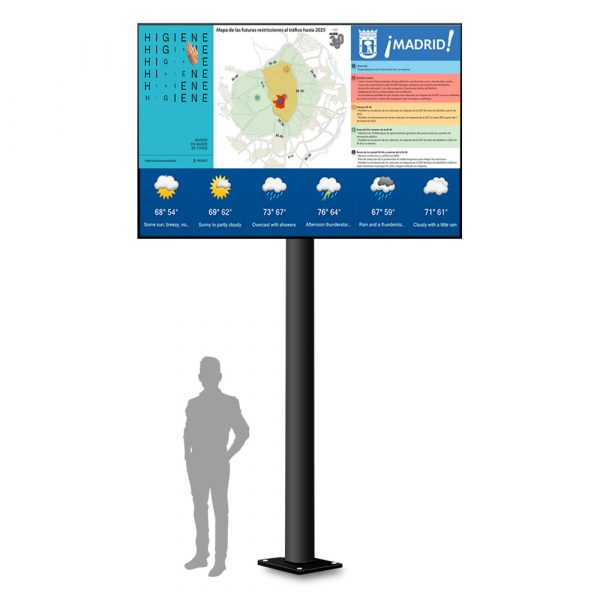 Monoposte Informativo CIty Maxi de Femonsa Signs & Solutions