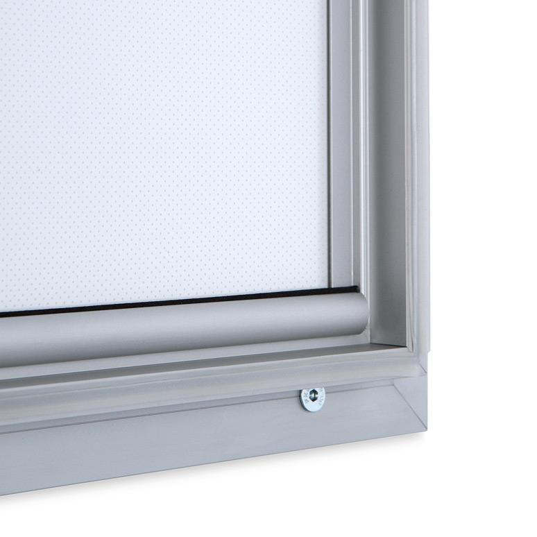 Vitrina para poster LED luminosa para exterior y cierre de seguridad.